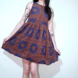 Boho Patterned Sleeveless Dress